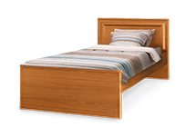 Односпальную кровать с матрасом